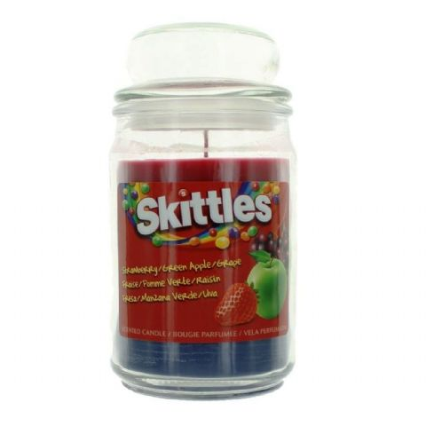 Strawberry, Green Apple & Grape  Scented - Skittles Large Jar Candle 130 Hours